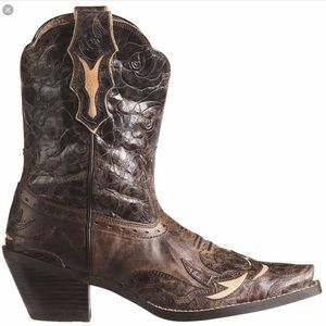 Ariat Dahlia Western Cowboy Leather Boots Size 6.5